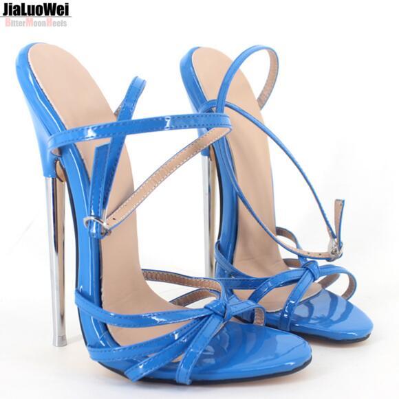 Blaue glänzende