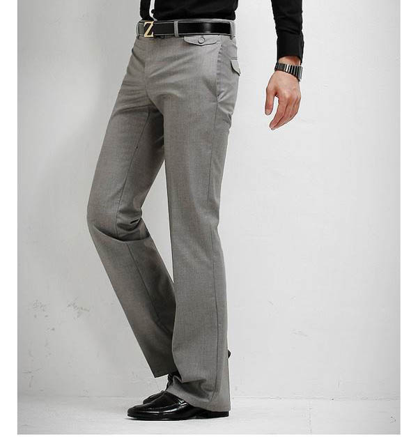 Compre Pantalones De Vestir Rectos Formales Casuales Delgados De Los Nuevos Hombres Pantalones Lisos Gris Negro Tamano 28 33 Envio Libre A 16 85 Del Undiesclub Dhgate Com