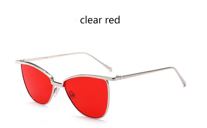lente de marco de plata rojo