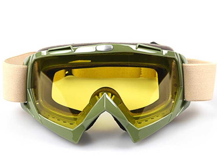 army green frame+yellow len