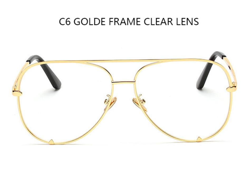 C6 gold frame clear
