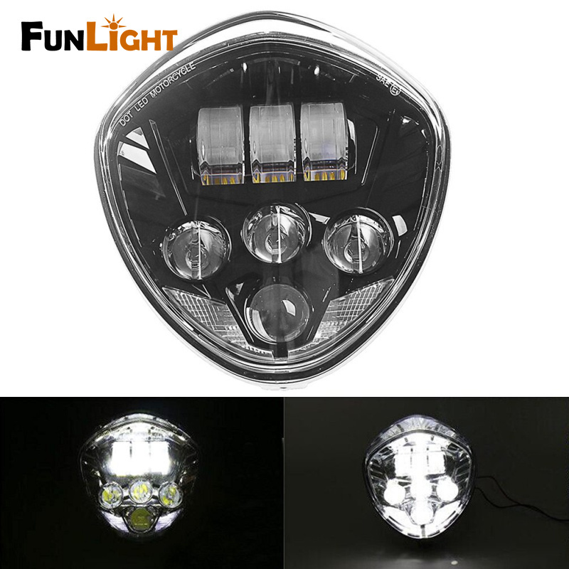 Wholesale Cruiser Ship - Free shipping Victory Motorcycle Black LED Headlight Cross Country LED headlights For 2010-2016 CROSS MODELS, 07-16 CRUISERS