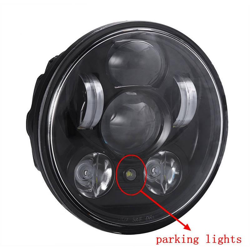 "Wholesale Led Projector Headlights Motorcycle - 5-3 4"" 5.75 inch Harley Motorcycle Projector Daymakers 5-3 4 inch headlight Harleys Dyan parking lights led headlights Motorbike"