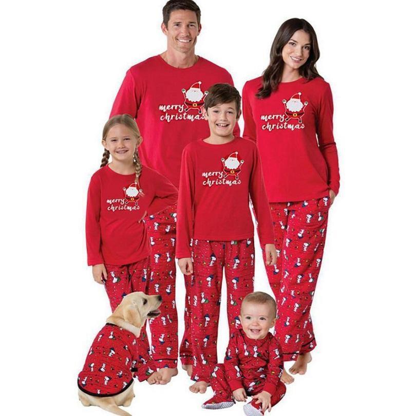 2017 Family Matching Christmas Pajamas Pjs Sets Kids Adult
