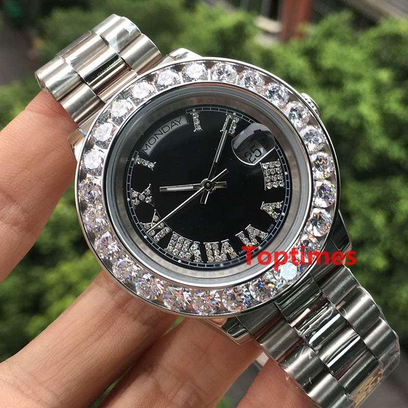 Silver diamonds dial