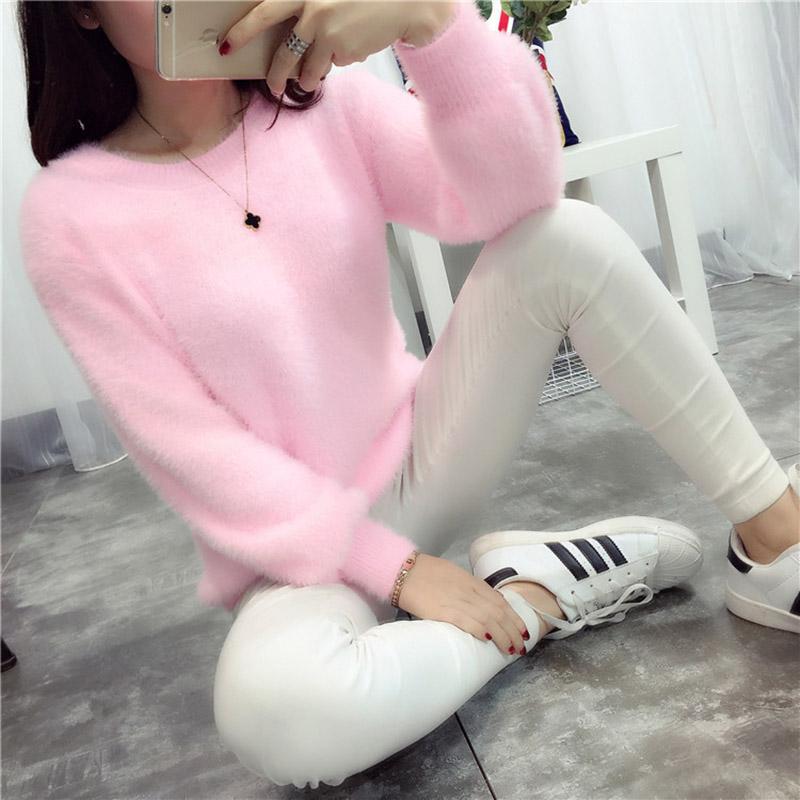 분홍색 스웨터