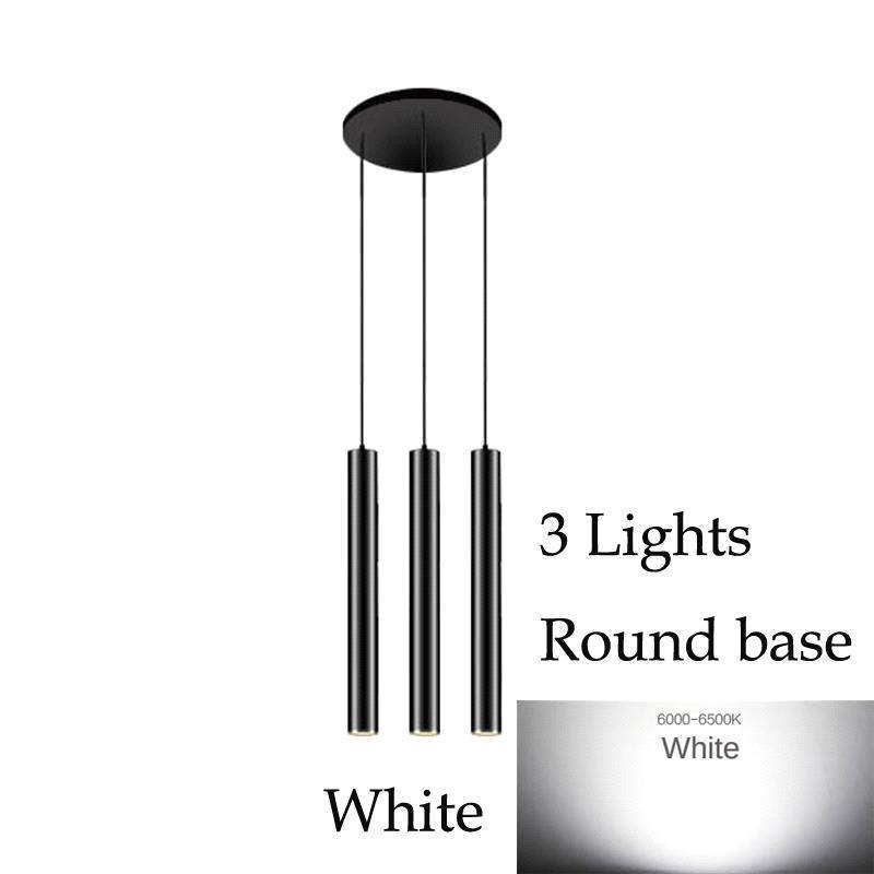 3 Lights (White)Round base