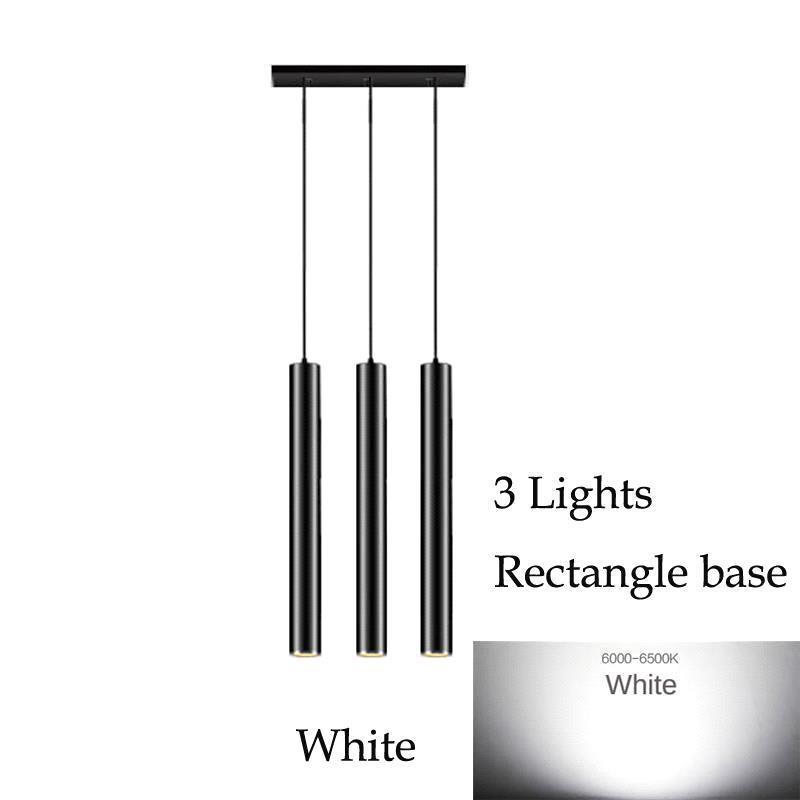 3 luces de base (blanco) del rectángulo