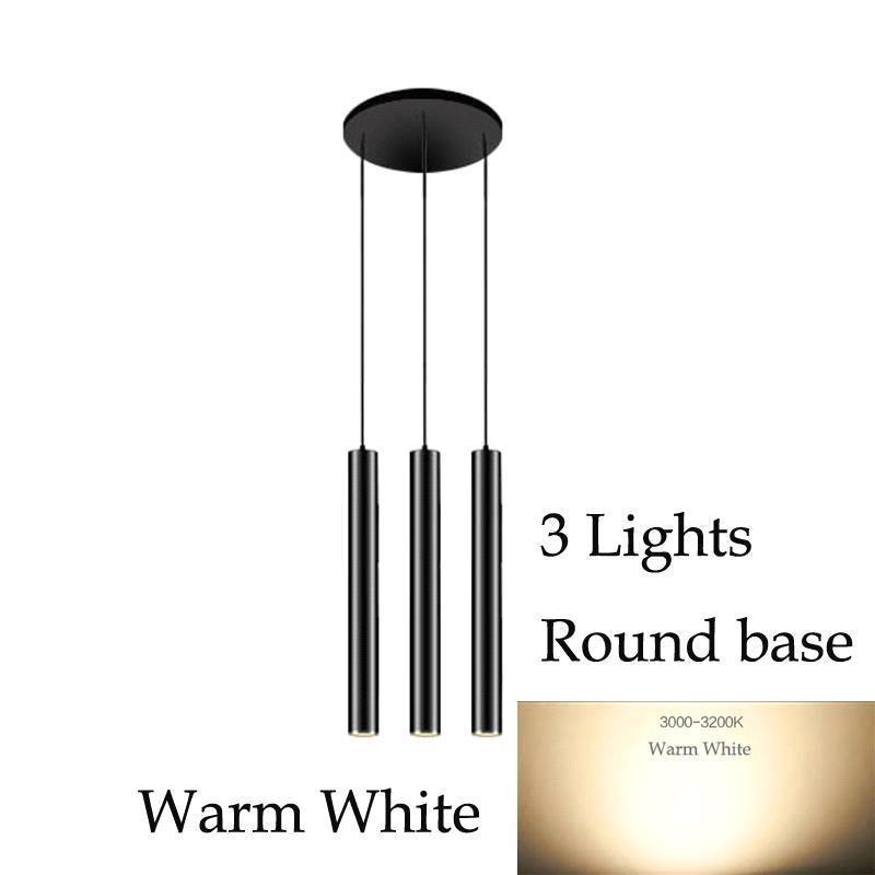3 luces (luz blanca cálida) Base redonda