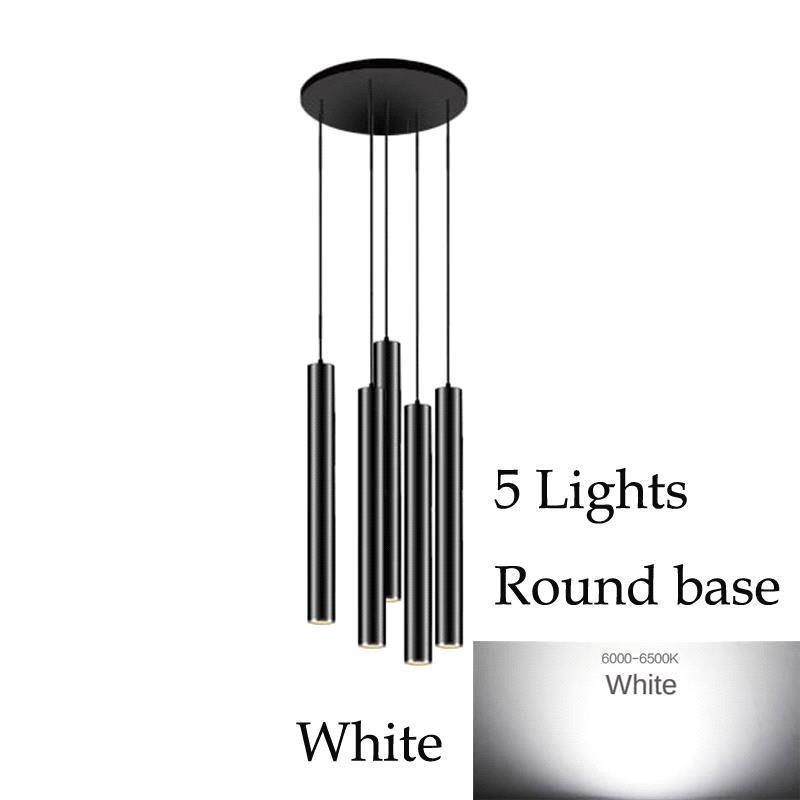 5 luces (blanco) Base redonda