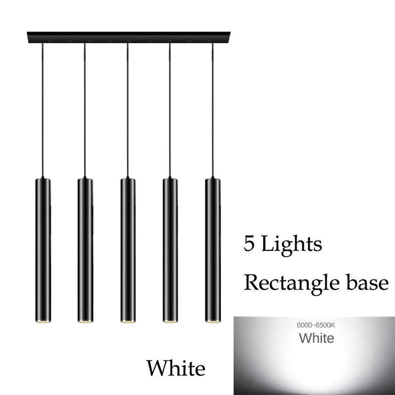 5 Lights (White)Rectangle base