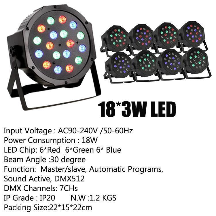 18 * 3W LED