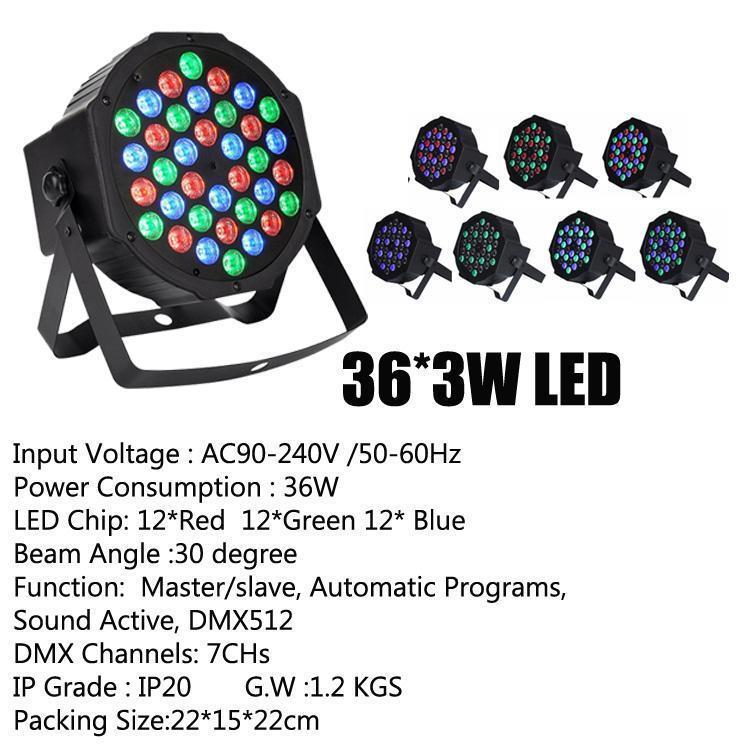 36*3W LED