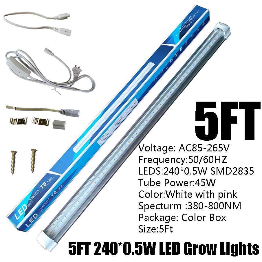 5FT 45W T8 V-Shape