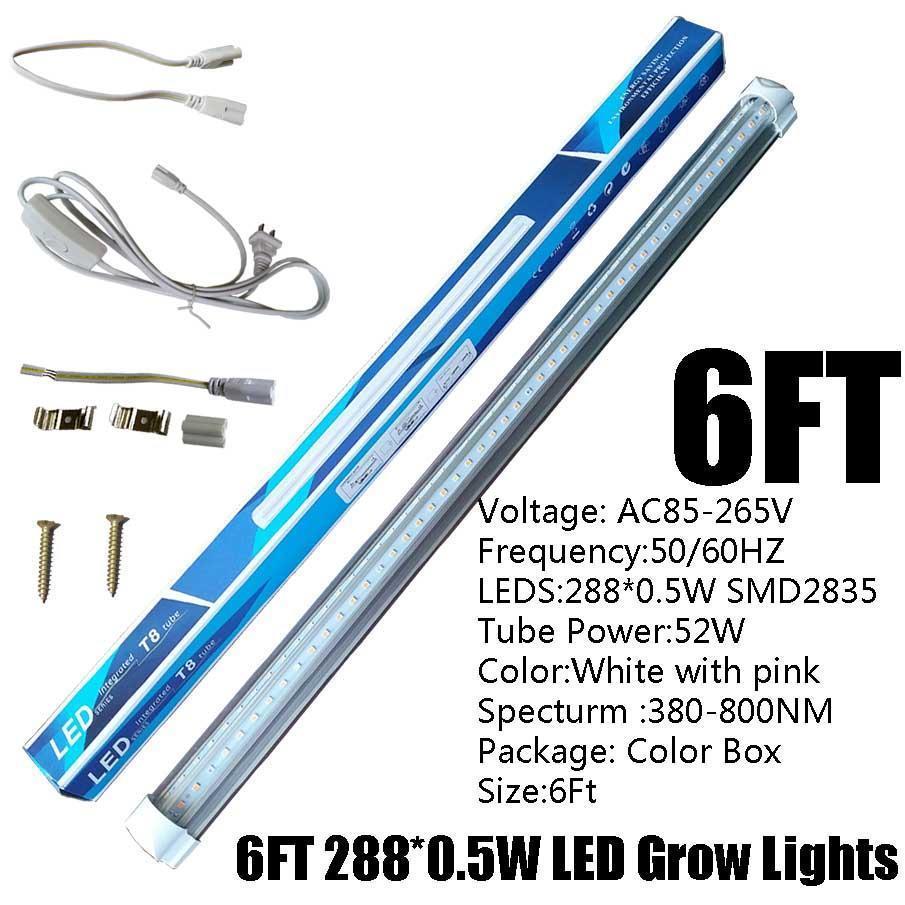 6FT 52W T8 V-Shape