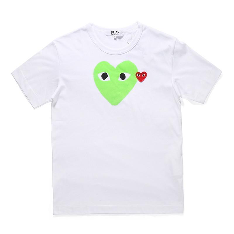 Corazón blanco del verde