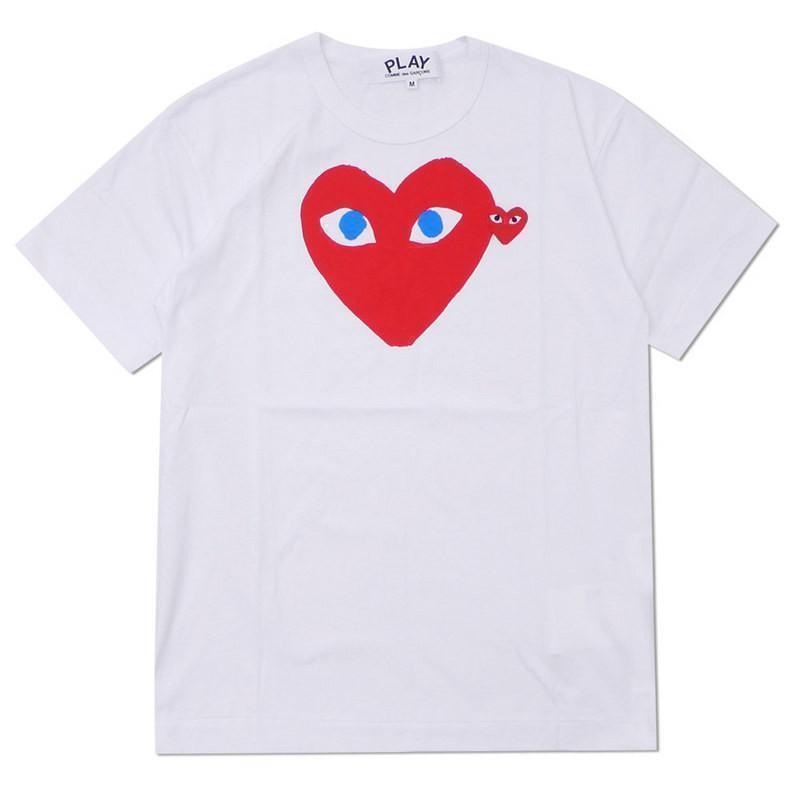 Corazón blanco rojo