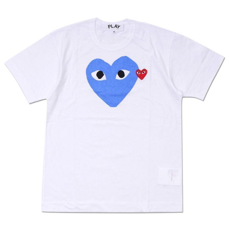 Corazón blanco azul