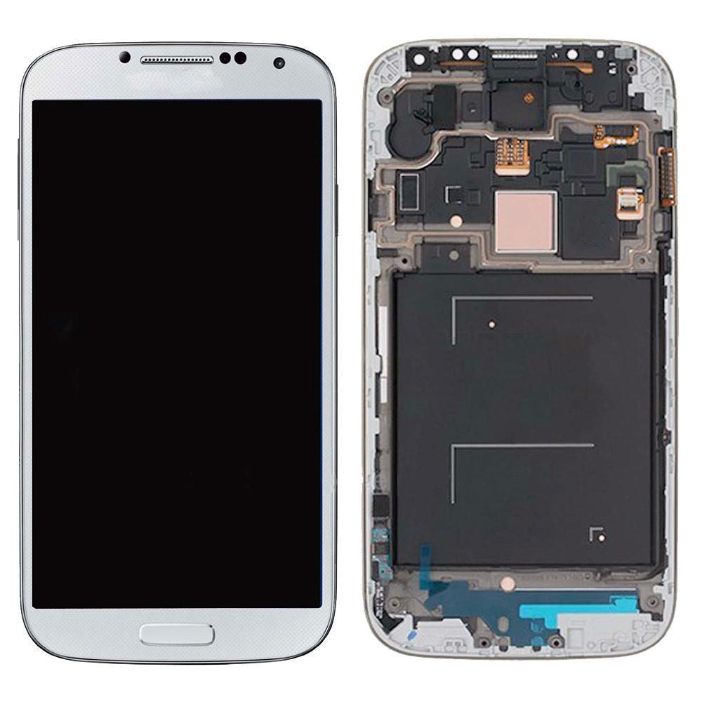 الأبيض للحصول على i9500 S4 + الإطار