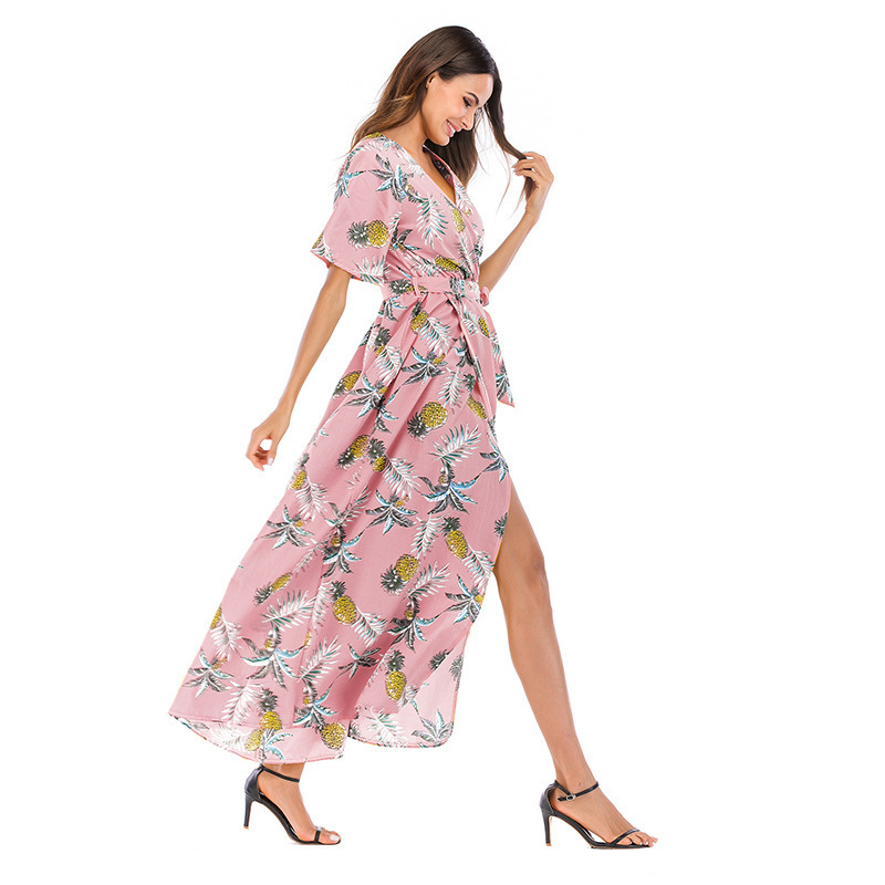 31fab294f4 Vestido De Festa Pleated Print Top Fashion Vestidos Mujer Vadim Zanzea  Dress 2018 Spring And New Pattern Sexy V Short Sleeve