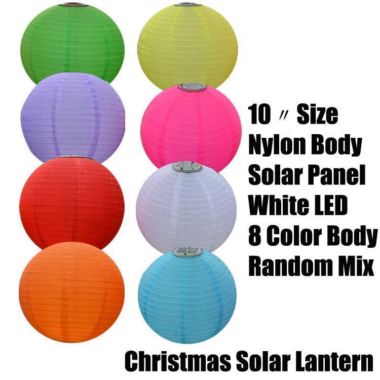 10〃 عيد الميلاد المصابيح الشمسية نايلون