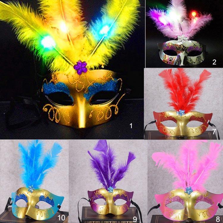 Masque mixte en plume LED 6-10