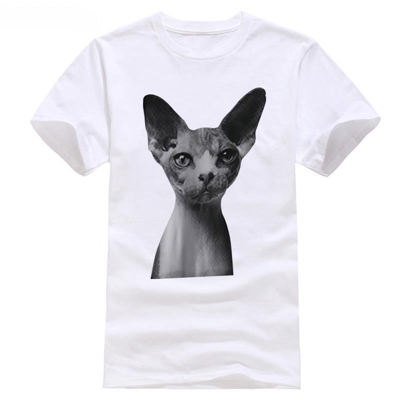 2018 manga curta o-pescoço sphinx cat animal gatinho moda unisex t-shirt m, mais tamanhos disponíveis tops tees impresso camisa dos homens t camisa do jogo