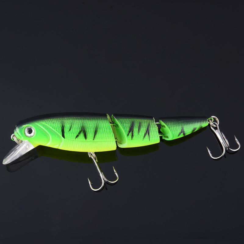 Fishing Lures Crankbait Hard Baits Tight Wobblers Slow Floating Jerkbait Lifelike Real Skin Lure Multiple Sections 1pcs Y1890402