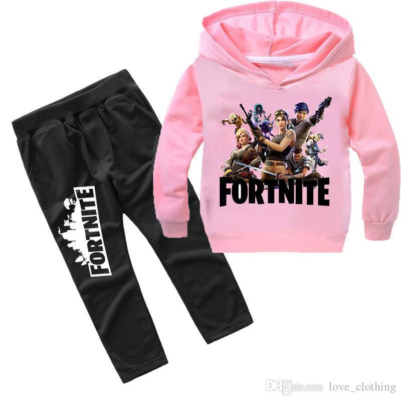 Kids Fortnite  Hoodie Pants Suit Girls Long Sleeve Tracksuit Sportswear Set UK