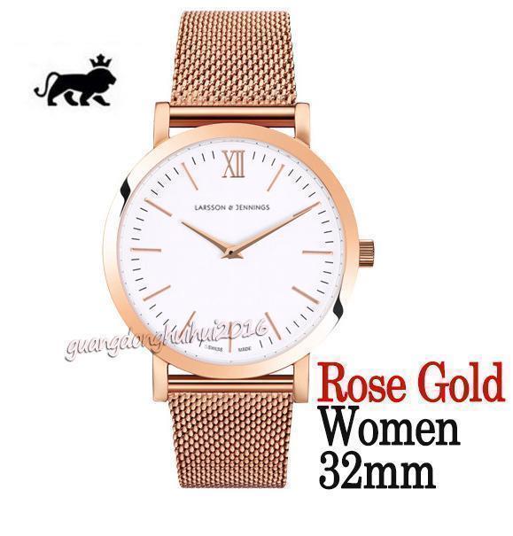quadrante bianco oro rosa 32mm