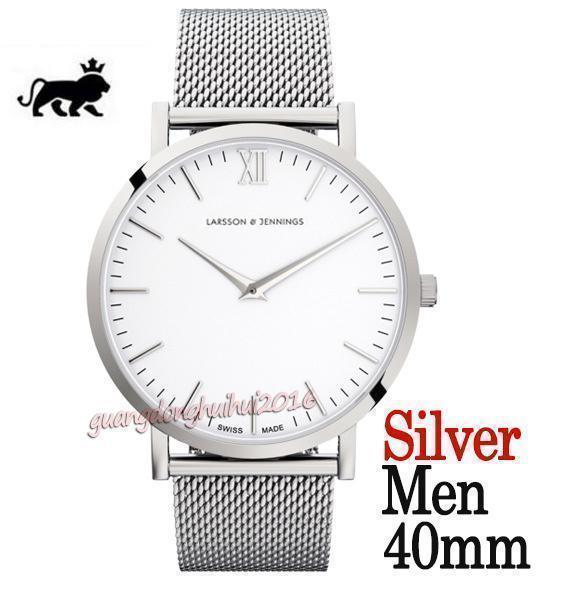faccia bianca argento 40mm