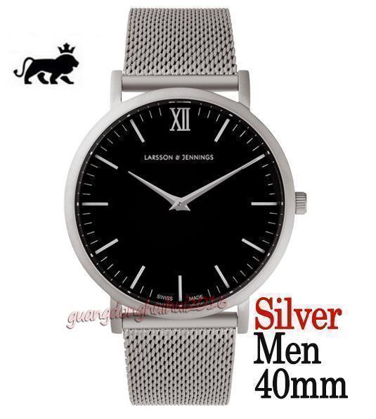 quadrante nero argento 40mm