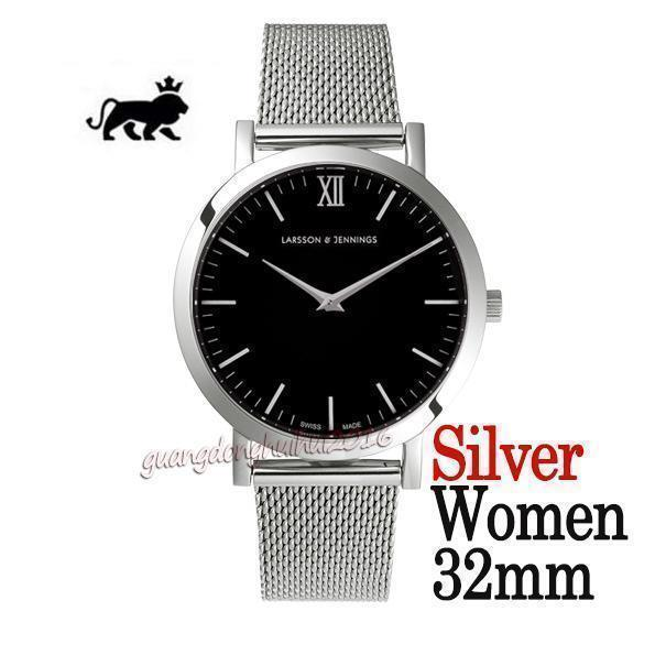 quadrante nero argento 32mm