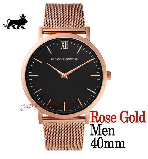 quadrante nero oro rosa 40mm