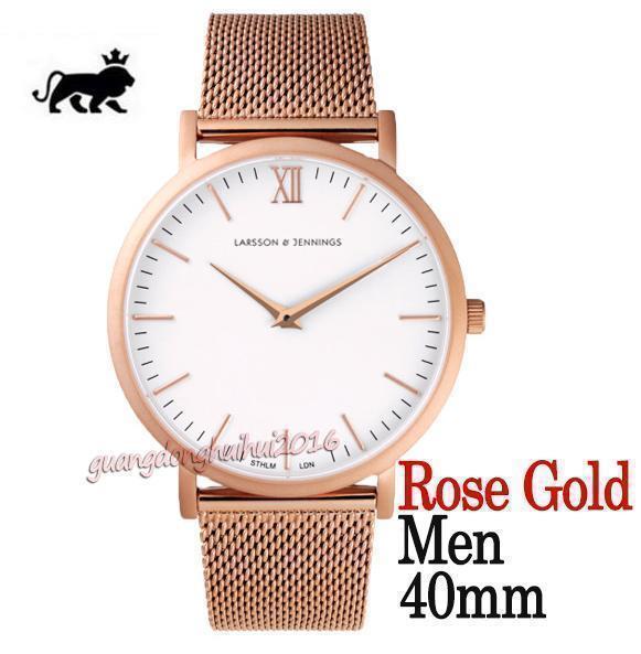 quadrante bianco oro rosa 40mm