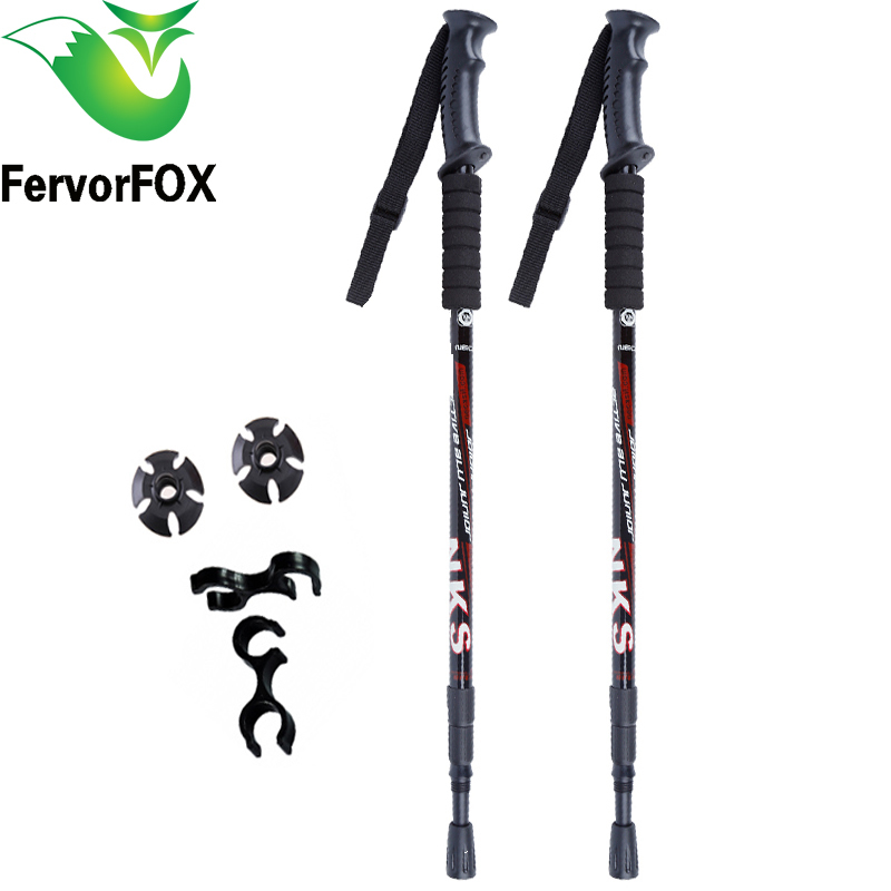 UK Seller Retractable Walking Sticks Telescopic Trekking Hiking Poles Canes