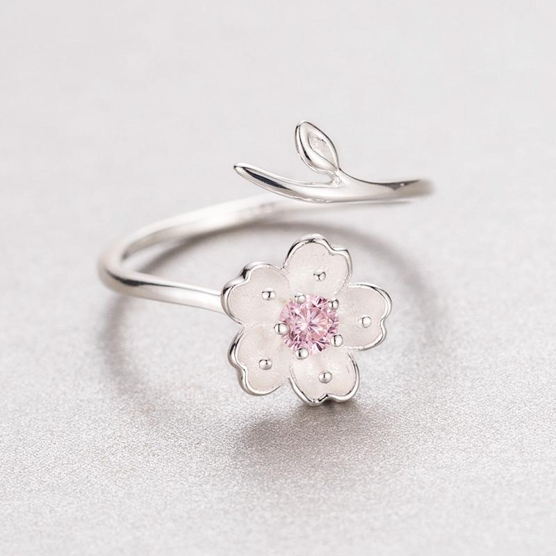 Anel aberto rosa