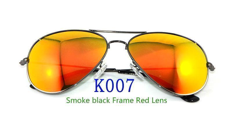 Smoke black Frame Red Lens