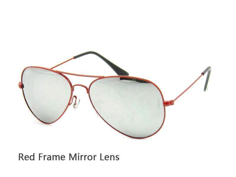Red Frame Mirror Lens