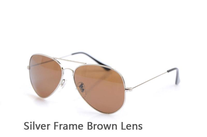 Silver Frame Brown Lens