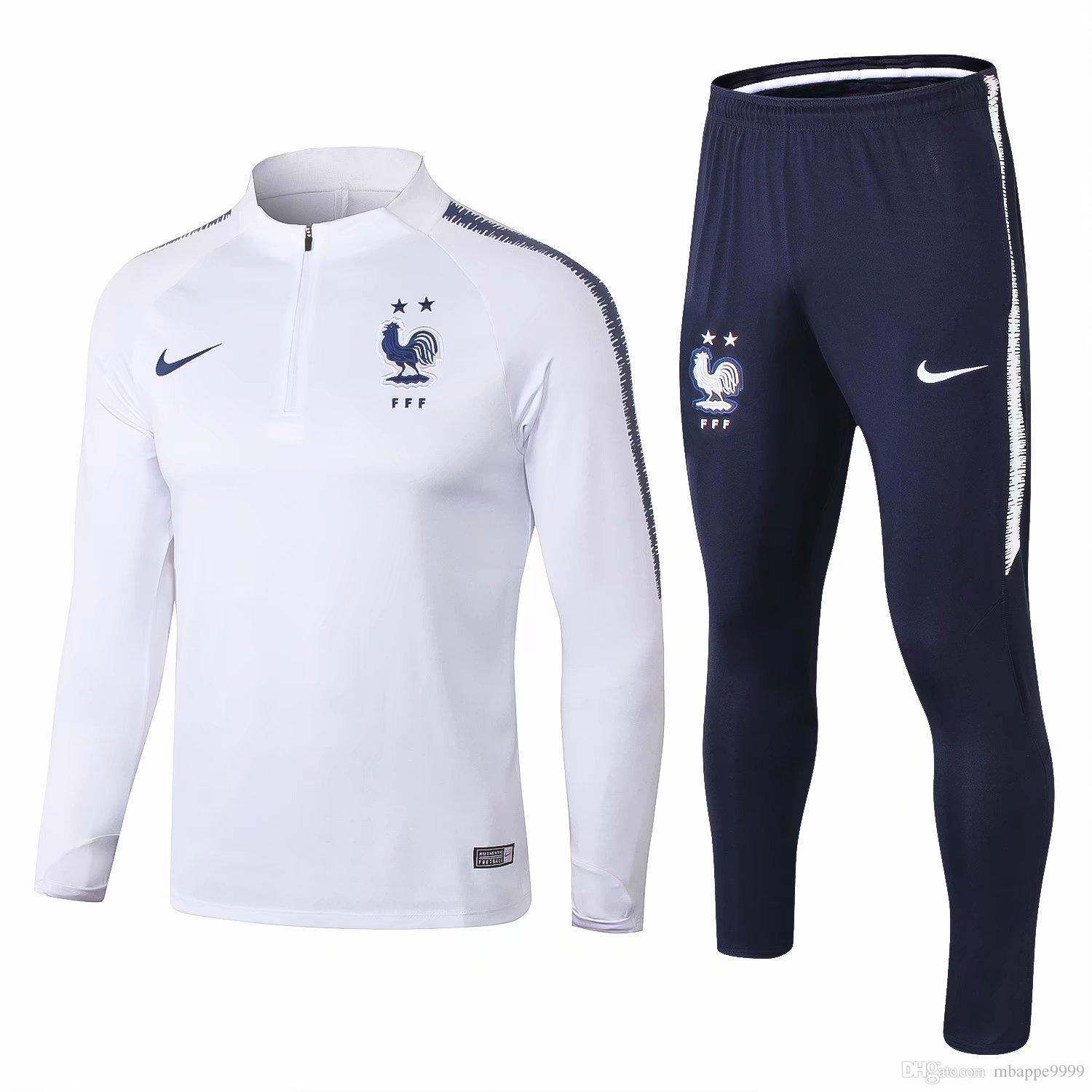 6c99433e2c2 US  34.8 - France FIFA World Cup 2018 Training Suit White - 2-Star -  www.fcsoccerworld.com (1500x1500) ...