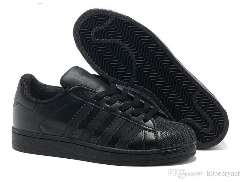 Acheter 2019 New Originals Adidas Superstars Chaussures Noir Blanc Or Hologram Junior Superstars Des Années 80 Fierté Sneakers Super Star Pas Cher