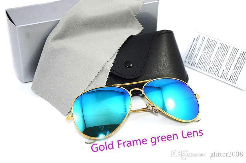 Gold Frame green Lens