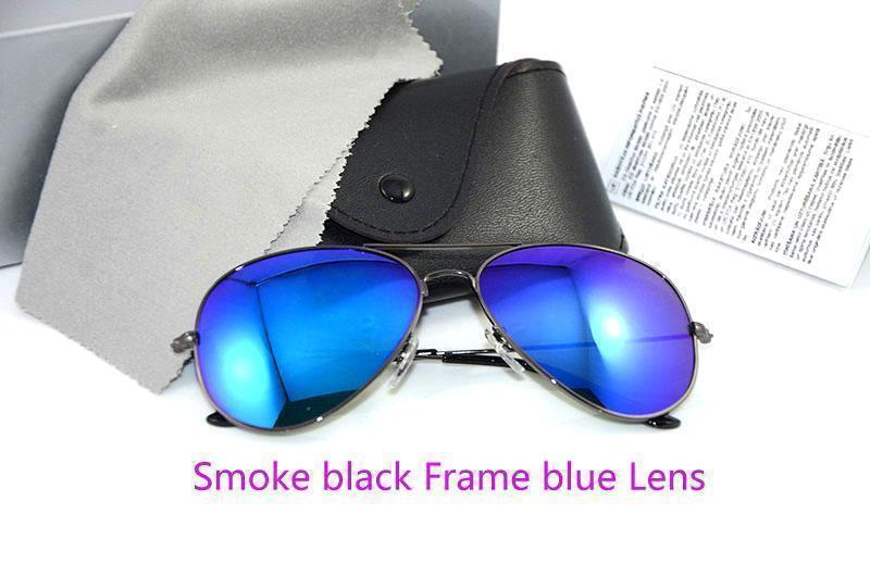Smoke black Frame blue Lens