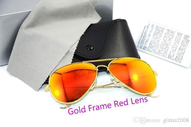Gold Frame rote Linse