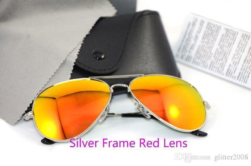 Silver Frame rote Linse