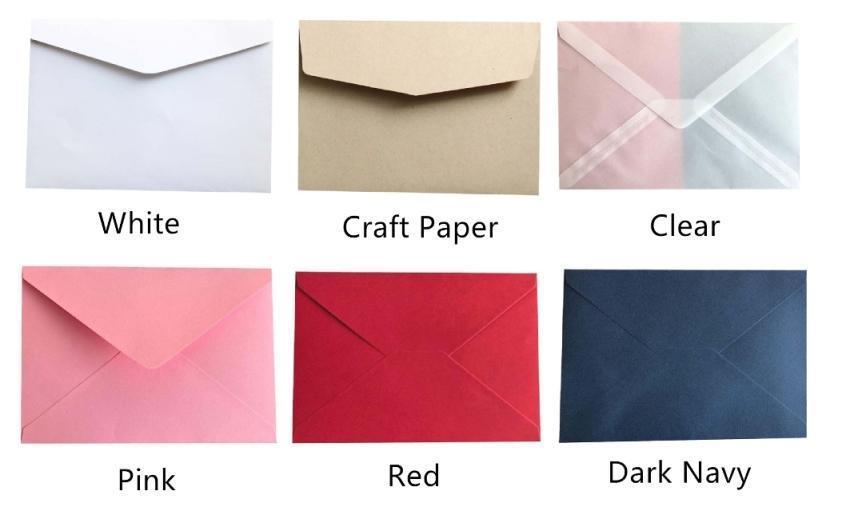 Примечание: оставьте сообщение для цвета конверта