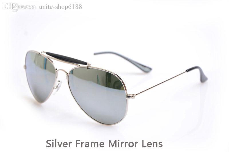 Silver Frame Mirror Lens