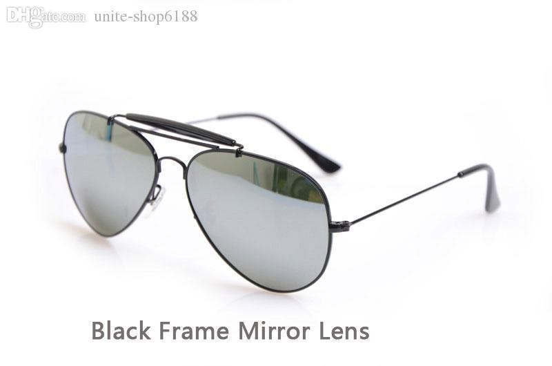 Black Frame Mirror Lens