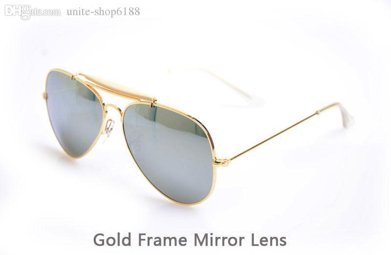 Gold Frame Mirror Lens